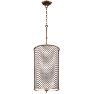 Manchester Natural Aged Brass Six-Light Entry Foyer Pendant