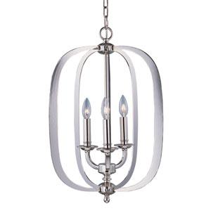Fairmont Polished Nickel Three Light Single Pendant