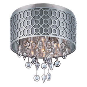 Symmetry Polished Nickel Five-Light Flush Mount