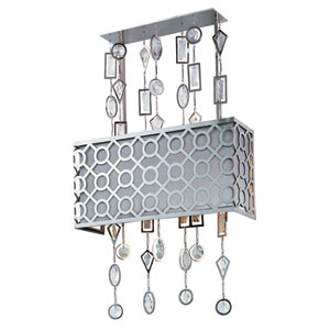 Symmetry Polished Nickel Three-Light Wall Sconce