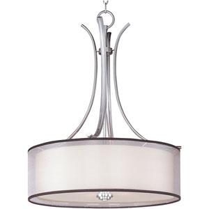 Orion Satin Nickel Four-Light Pendant with Satin White Glass