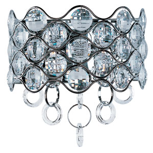 Cirque Polished Chrome Two-Light Wall Sconce