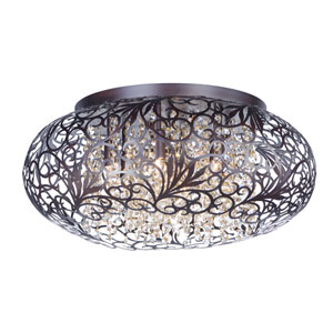 Arabesque Oil Rubbed Bronze Seven-Light Xenon Flush Mount