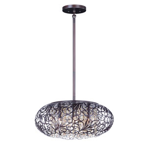 Arabesque Oil Rubbed Bronze Nine-Light Xenon Pendant
