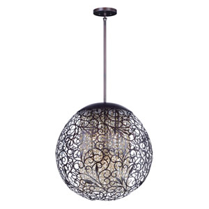 Arabesque Oil Rubbed Bronze Nine-Light Xenon Globe Pendant