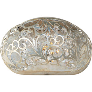 Arabesque Golden Silver One-Light Wall Sconce