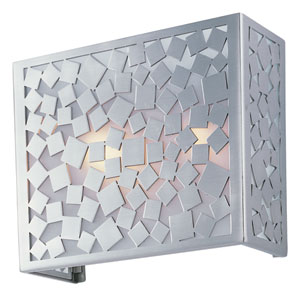 Matrix Satin Nickel Two-Light Wall Sconce