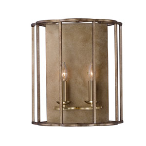 Helix Bronze Fusion Two-Light Wall Sconce