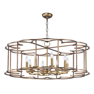 Helix Bronze Fusion Eight-Light Chandelier
