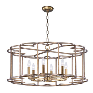Helix Bronze Fusion Six-Light Chandelier