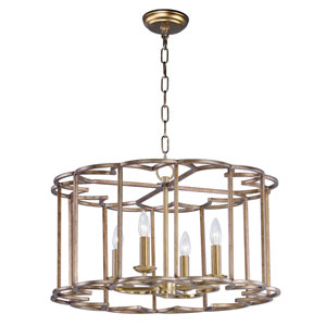Helix Bronze Fusion Four-Light Chandelier