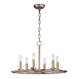 Helix Bronze Fusion 24-Inch Six-Light Chandelier