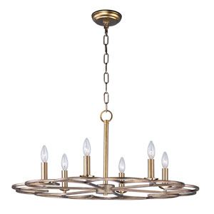 Helix Bronze Fusion 32-Inch Six-Light Chandelier