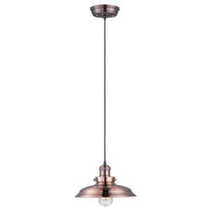 Mini Hi-Bay Antique Copper One-Light Six-Inch Pendant