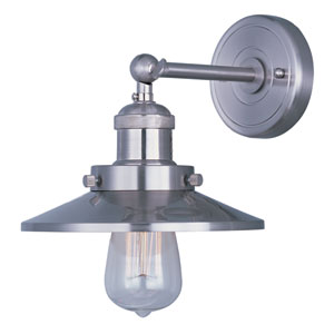 Mini Hi-Bay Satin Nickel One-Light Eight-Inch Wall Sconce