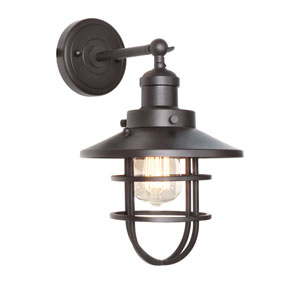 Mini Hi-Bay Bronze One-Light Thirteen-Inch Wall Sconce
