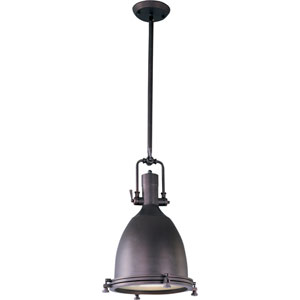 Hi-Bay Bronze One-Light Pendant