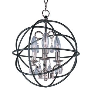 Orbit Anthracite and Polished Nickel Three Light Pendant