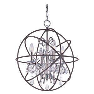 Orbit Anthracite and Polished Nickel Four Light Pendant
