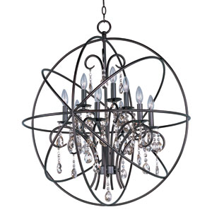 Orbit Oil Rubbed Bronze Nine-Light Single-Tier Chandelier