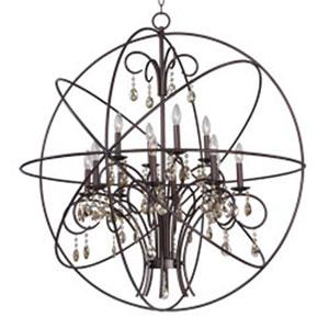 Orbit Oil Rubbed Bronze 12-Light Chandelier