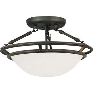 Stratus Bronze Semi-Flush Ceiling Light