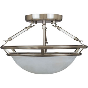 Pewter Stratus Three-Light Semi Flush