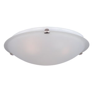 Malaga Satin Nickel Three-Light Flushmount