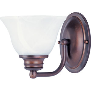 Malaga Oil Rubbed Bronze One-Light Six-Inch Bath Fixture with Marble