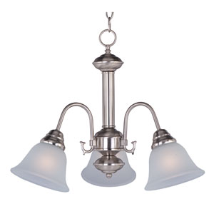 Malaga Satin Nickel Three-Light Mini Chandelier