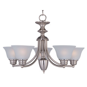 Malaga Satin Nickel Five-Light Single-Tier Chandelier