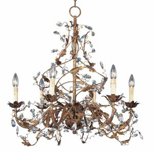 Elegante Crystal Six-Light Chandelier