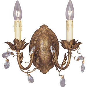 Etruscan Gold Two-Light Wall Sconce