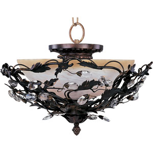 Elegante Oil Rubbed Bronze Semi-Flush Ceiling Light