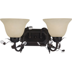 Elegante Oil Rubbed Brozne Two-Light Bath Fixture