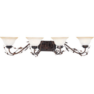 Elegante Oil Rubbed Bronze Four-Light Bath Fixture