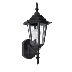 Builder Cast Black One-Light Outdoor Eight-Inch Wall Sconce