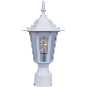 Builder Cast White One-Light Outdoor Post