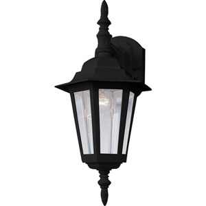 Builder Cast Black One-Light Outdoor Fourteen-Inch Wall Sconce