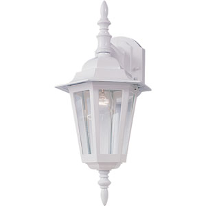 Builder Cast White One-Light Fourteen-Inch Outdoor Wall Sconce