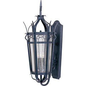Cathedral Three-Light Outdoor Wall Lantern