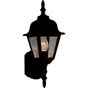 Builder Cast Black One-Light Outdoor Six-Inch Wall Sconce