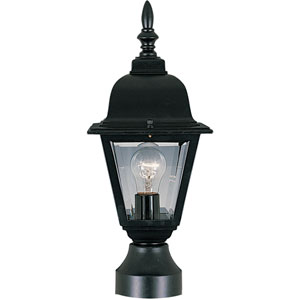 Builder Cast Black One-Light Six-Inch Outdoor Post