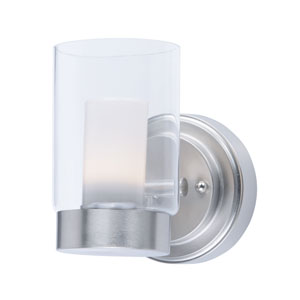 Mod Satin Nickel LED Bath Sconce
