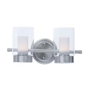 Mod Satin Nickel Two-Light LED Bath Vanity