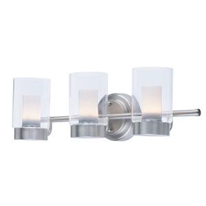 Mod Satin Nickel Three-Light LED Bath Vanity