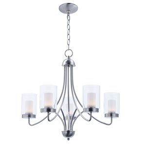 Mod Satin Nickel Five-Light LED Chandelier