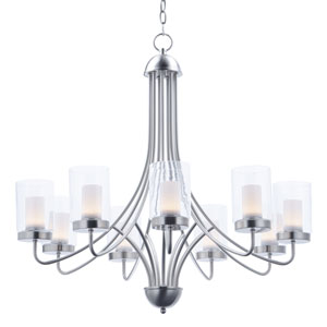 Mod Satin Nickel Nine-Light LED Chandelier