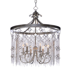 Alessandra Silver Mist Six-Light Chandelier