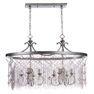 Alessandra Silver Mist Eight-Light Chandelier